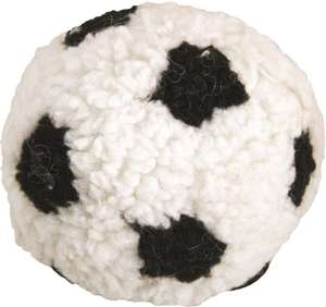 Dog Life Plush Berber Football With Squeak Black