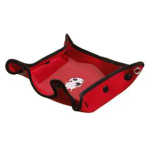 DOOG red neoprene dog water bowl assembled