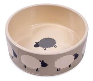 Petface Sheep Ceramic Dog Bowl