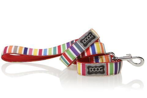 DOOG dog lead Scooby - candy stripe design
