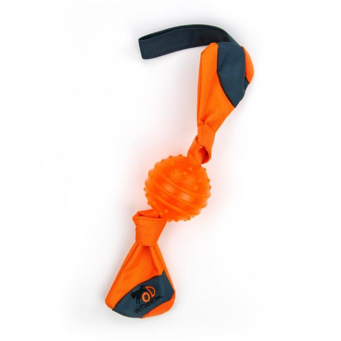 All for Paws Tug and Toss Dog Fetch Toy - Orange