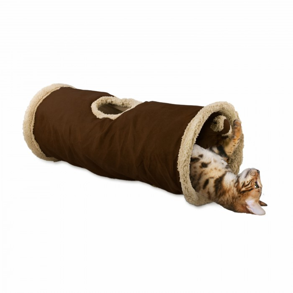 All For Paws Lamb Find Me Cat Tunnel Brown