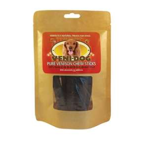 Veni-Dog natural venison chew sticks - packet