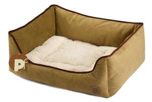 Petface Country Square dog bed -Taupe