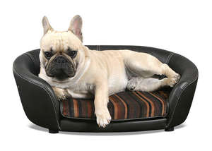 Scruffs Regent Handmade Faux Leather Pet Sofa Bed For Dogs