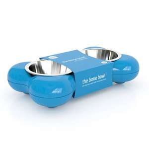 Hing Bone Dog Bowl Duo Blue