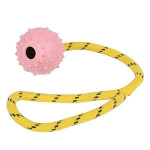 Happy Pet Tough Toys Ball on a Rope - Small