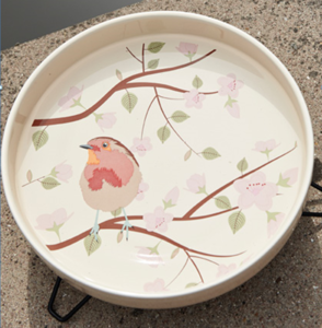 Petface Ceramic Bird Baths For Wild Birds Robin Design