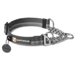 Ruffwear Chain Reaction Half Check Dog Collar Twilight Grey