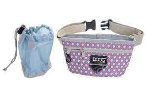 DOOG Good Dog Treat Pouch in Pink/Blue