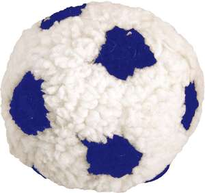 Dog Life Plush Berber Football With Squeak Blue