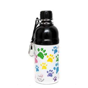 long paws pet water bottle -  puppy paws design 500ml