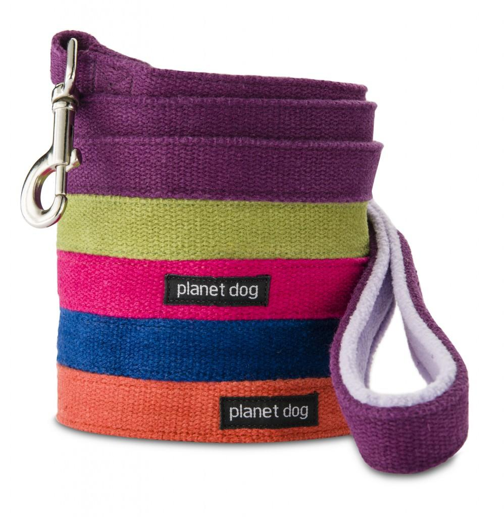Planet Dog Hemp Leash with Fleece Lined Handle - Stack