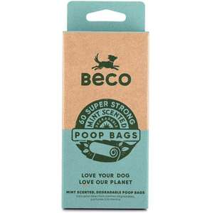 Beco Bags Eco-Friendly Poop Bags Scented 60 bag refill pack