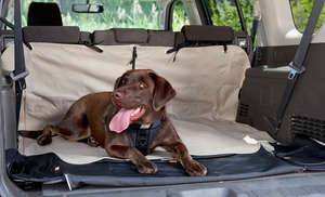 Kurgo cargo cape boot liner for dogs with seats up