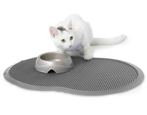 Petmate Replenish Food Mat nickrl grey