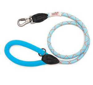 Long Paws Comfort Rope Leash For Dogs Pale Blue