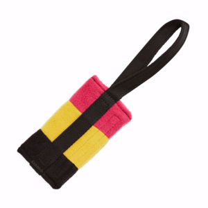 Tug-E-Nuff Food Bag Standard - Black/Pink/Yellow Fleece