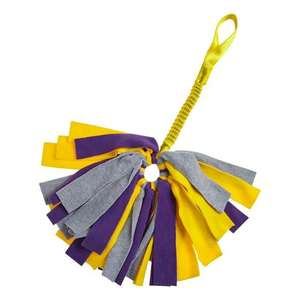 Tug-E-Nuff Crazy Thing Bungee Tug Toy For Dogs - Yellow/Grey/Purple