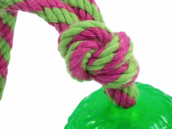 Petface Toyz Rubber Rope Ball Rope Detail