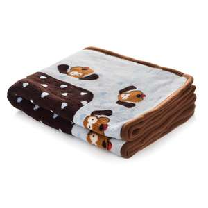 Smart Pet Love Snuggle Blanket Blue Heart
