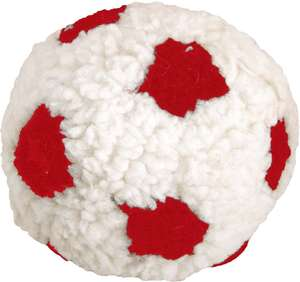 Dog Life Plush Berber Football With Squeak Red