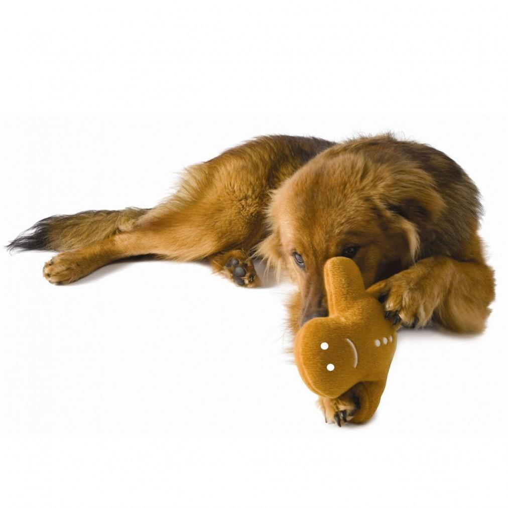 Planet Dog Gingerbread Buddy Soft Squeaky Dog Toy