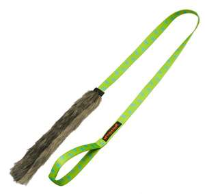 Tug-E-Nuff Chaser Tug Toy - Faux Fur Green