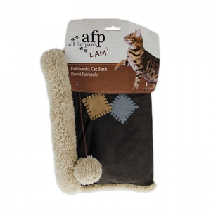 All For Paws Lamb Fairbanks Cat Sack in brown
