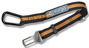 Kurgo direct to seatbelt teather dog car restraint black orange
