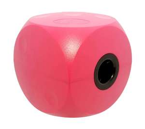 classic buster cube treat dog toy - cherry