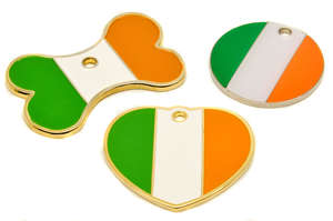 Flag Engraved ID Tag Ireland - enamel
