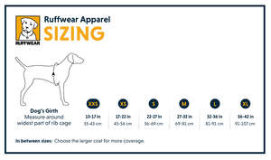 Ruffwear Sun Shower Waterproof Dog Jacket Size Chart