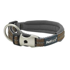 Petface Signature Padded Dog Collars Brown
