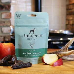 Innocent Hound Venison Sausages with Apple