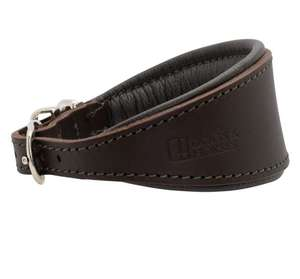 D&H Contemporary Colours Leather Hound Collar - Brown