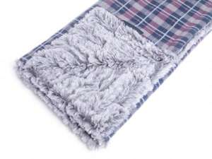Petface Dove Grey Check double sided Comforter Pet Blanket