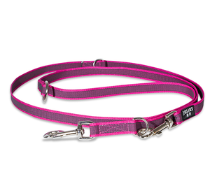 Julius K9 Super Grip Double Leash - Pink