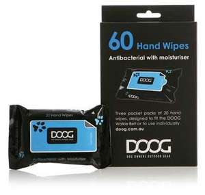 DOOG Hand Wipes For Dog Walking refill pack of 60 wipes