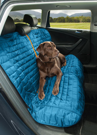 Kurgo Loft Bench Car Seat Cover For Dogs blue