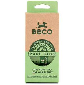 Beco Bags Eco-Friendly Poop Bags Unscented 60 bag refill pack