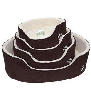 Petface Sam's Luxury Oval Dog Bed with different sizes