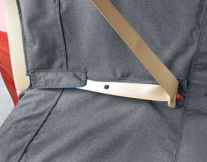 Kurgo car bench seat cover for dogs seatbelt detail