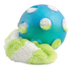 Ancol chasersuper ball with plush tail - blue