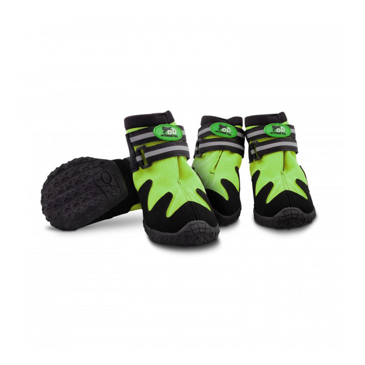 All for Paws All Road Boots For Dogs - Green