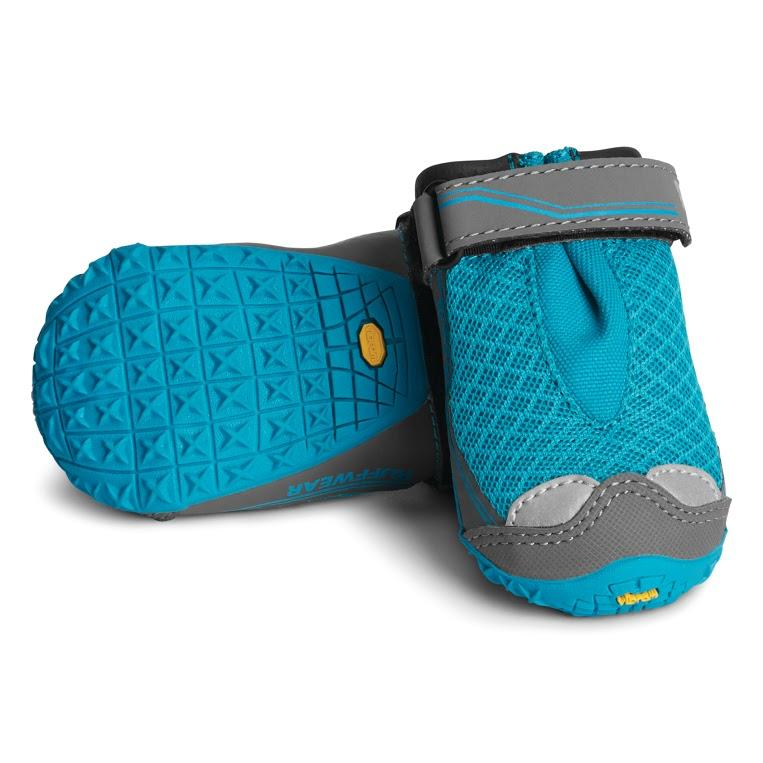 Ruffwear Grip Trex Dog Boots Blue Spring Two Boots