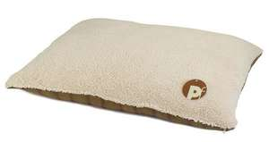 Petface Country Check Pillow Mattress for dogs faux sheepskin side