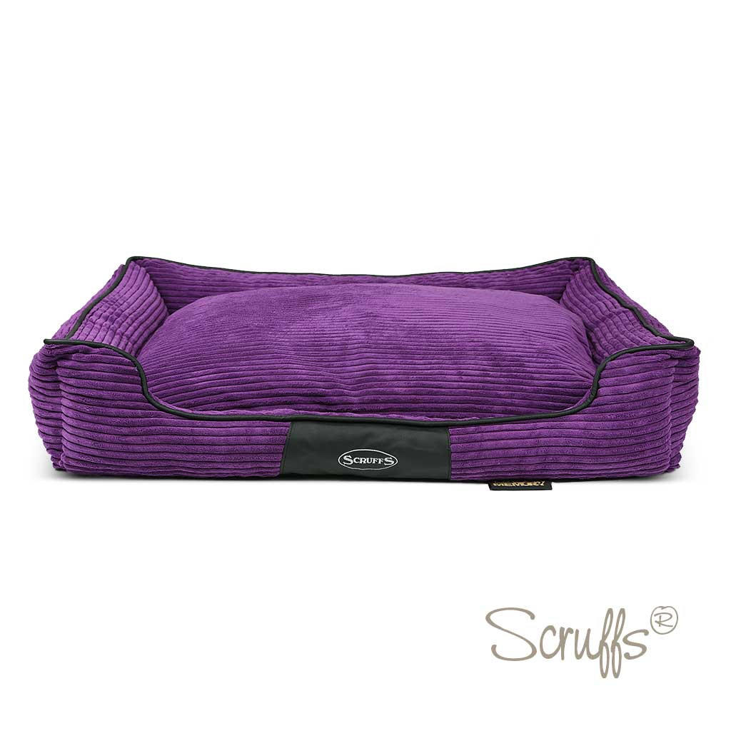 Scruffs Milan Large Dog Memory Foam Box Bed Cherry