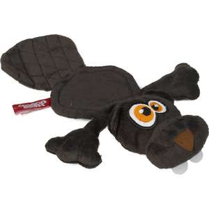 Hear Doggy! Dog Toys Silent Squeaky Soft Toy - Woody the Beaver