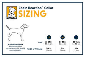 Ruffwear Chain Reaction Half Check Dog Collar Size Chart